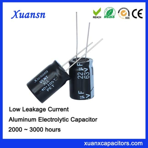 ultra low leakage current capacitor 22uf63v