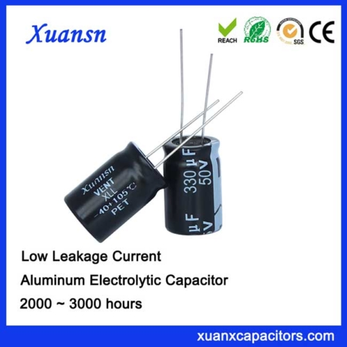 very low leakage current capacitor 330uf50v