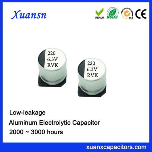 low leakage current capacitors 220uf6.3v