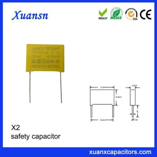safety high voltage capacitor 223K310V