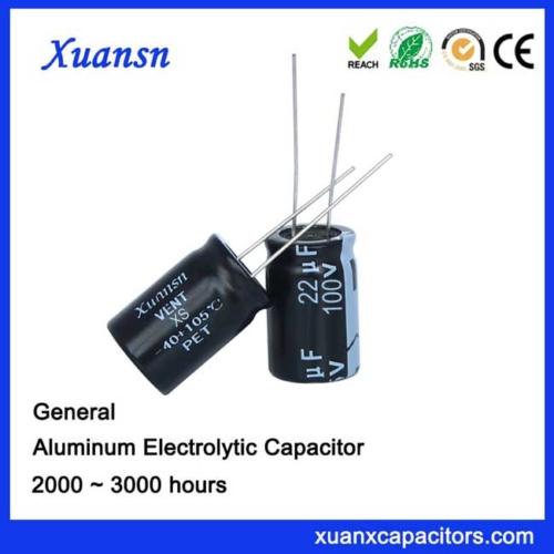 22UF100V Aluminum Electrolytic Capacitor
