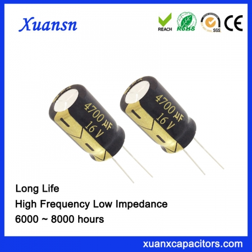 Power factor correction capacitor 4700uf16v