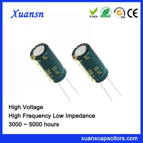Large ripple current Capacitor 10uf250v Large Inventory