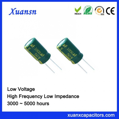 1000UF50V 5000hrs Electrolytic Capacitor Large ripple current 2257mArms