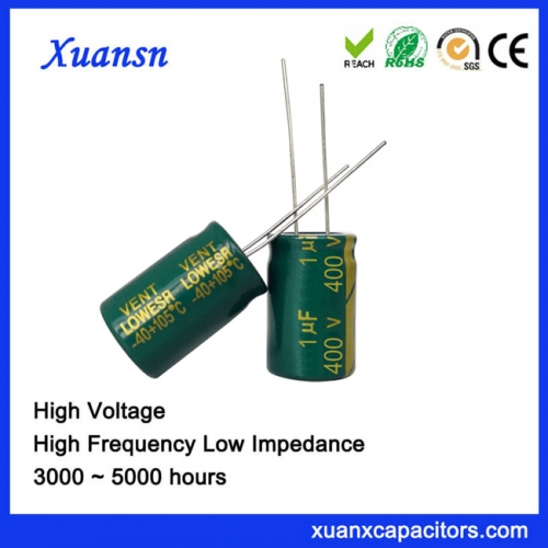 high voltage capacitor 1uf400v Long Life 5000Hours For LED lights