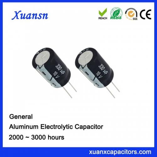 with Competitive Price 330UF10V 3000Hours Aluminum Capacitor