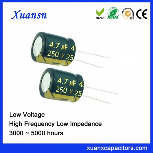 High Frequency Capacitor 4.7UF250V 5000hours for Power Adapter