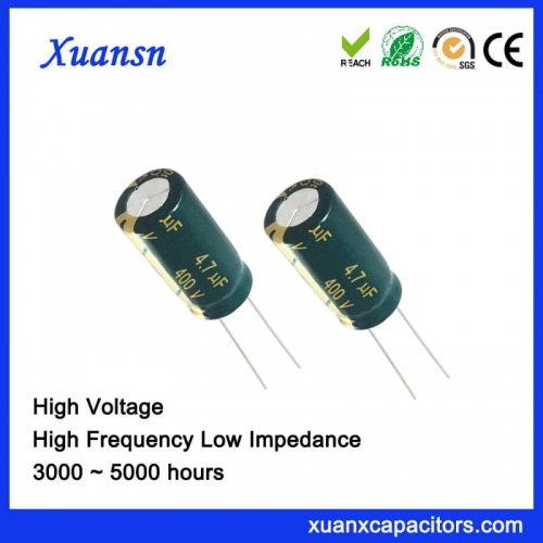 New Original 4.7 UF400V Electrolytic Capacitor 5000hours High Voltage Capacitor