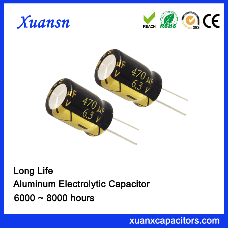 470UF6.3V 8000 hours electrolytic capacitor for gps tracker