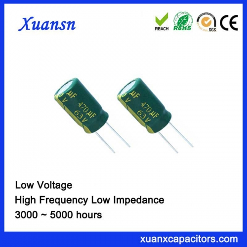 New Arrival 470UF63V 5000hours Aluminum Capacitor 3 years of durability
