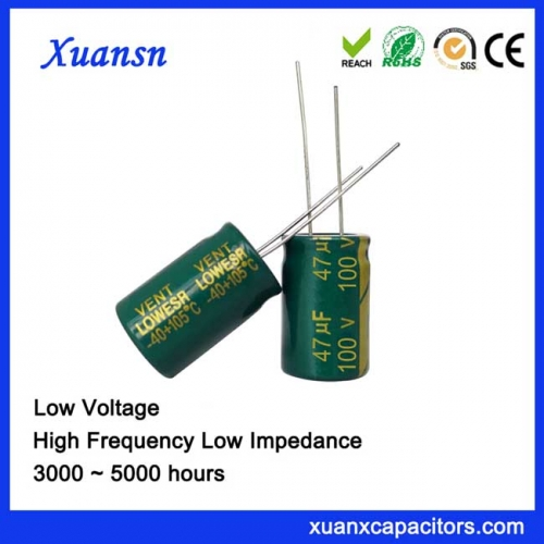 High Quality 47UF100V 5000hours Electrolytic Capacitor