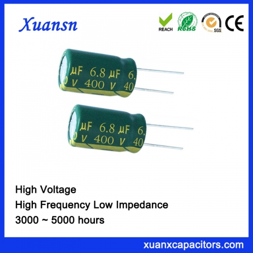 High Voltage Capacitor 6.8uf400v 5000Hours for Switching Power Supply
