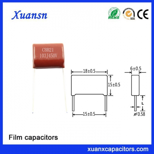 Power Supply Module Capacitor 103J450V Snubber Film Capacitor