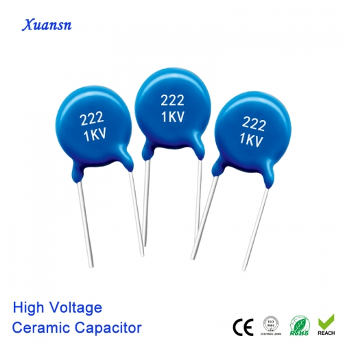 high voltage ceramic capacitor 222K1KV Communication equipment use