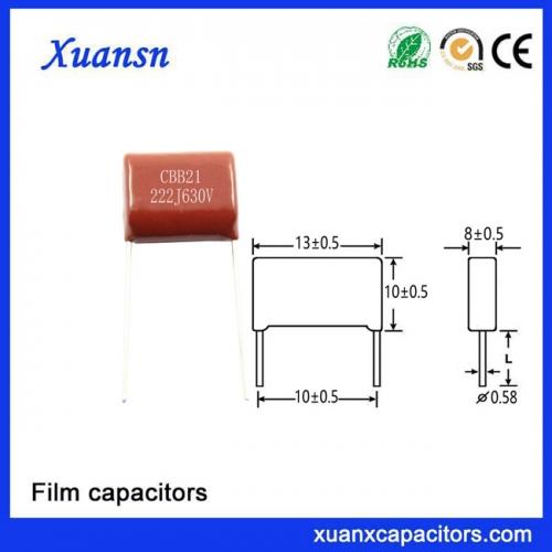 Snubber Film Capacitor 222J630V MPP MPS Fan Capacitor