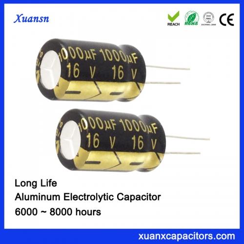 charging pile capacitor 1000UF16V aluminum