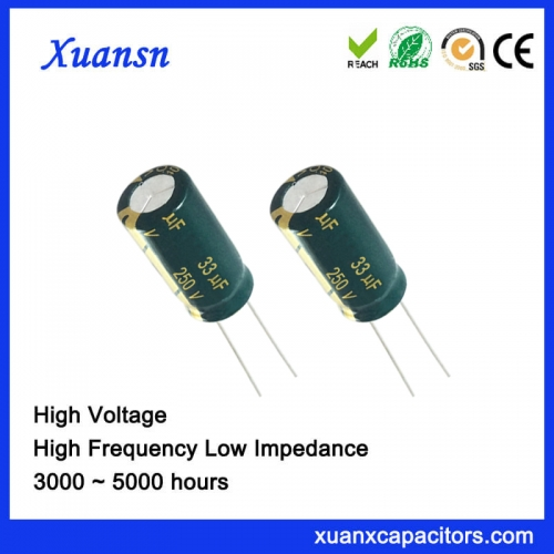 33UF250V electrolytic capacitor has CE certificate