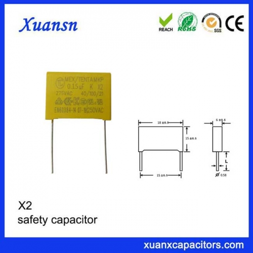 0.15UF For Home Appliances 150nF 275V