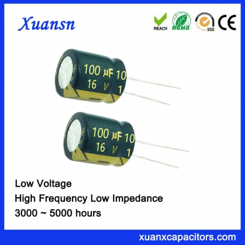 Fan switching capacitor 100UF 16V
