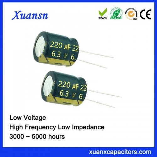 New electrolytic capacitor 220uf 6.3v