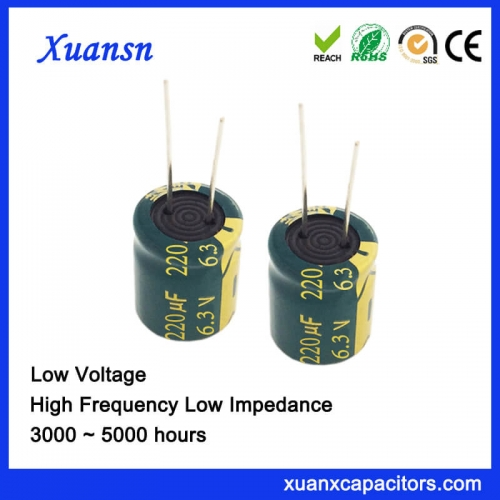New electrolytic capacitor 220uf 6.3v