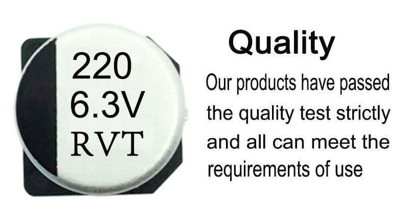 Cathode and anode aluminum foil RVT 220UF 6.3V