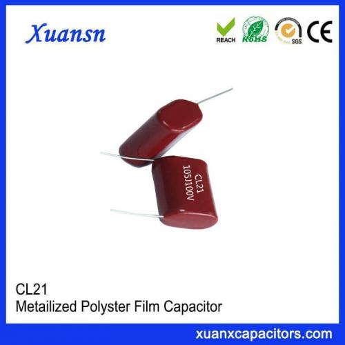 Cl21 100V 105J mylar Film Capacitor