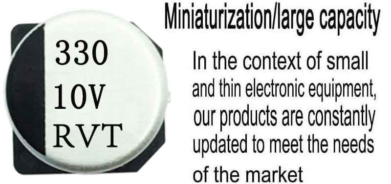 SMD aluminum electrolytic capacitor 330uf10v