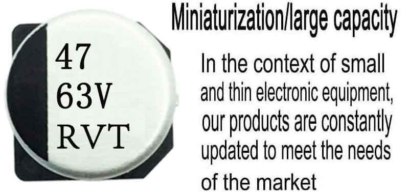 105℃standard product SMD electrolysis 47uf63v