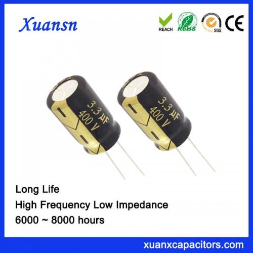 Condenser aluminum electrolytic capacitor 3.3uf400V