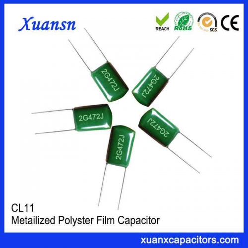 2G472J Mylar film capacitor CL11