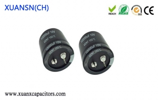 Snap-in aluminum electrolytic capacitors