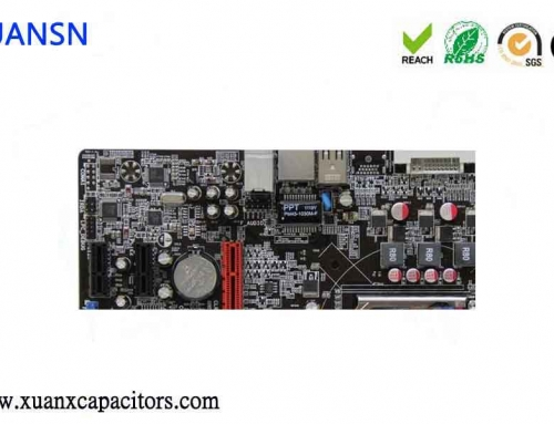 What is the function of the capacitors on the graphics cards