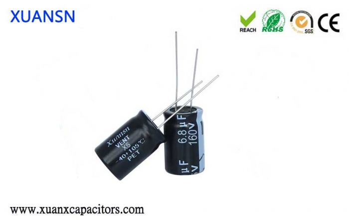plug-in electrolytic capacitor