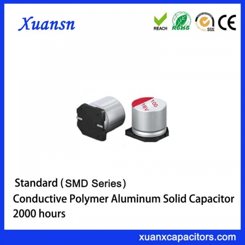 SMD solid aluminum electrolytic capacitor