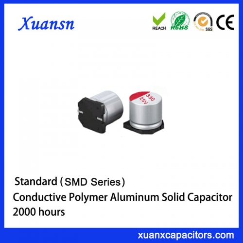 Chip solid aluminum electrolytic capacitor