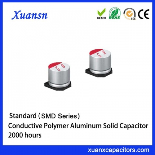 Conductive polymer solid electrolytic chip capacitor 680uf