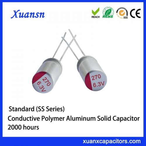 solid polymer electrolytic capacitor 270uf
