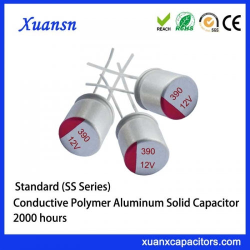solid aluminum capacitor 390UF12V