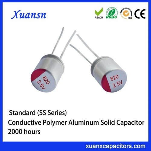 solid electrolytic capacitor 2.5V820UF