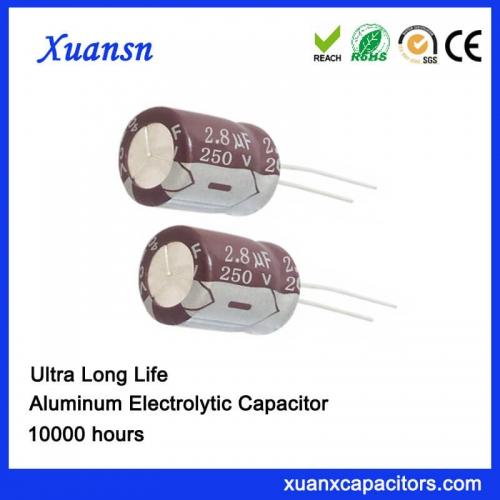 2.8UF 250V Long Life Electrolytic Capacitor
