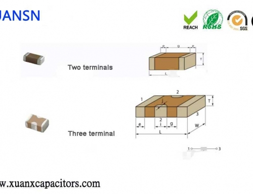 What is a three terminal capacitor and what are the advantages?